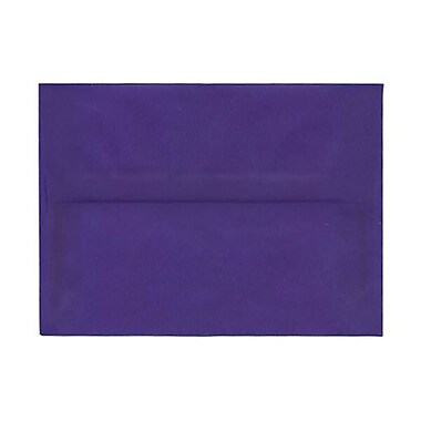 JAM PaperMD – Enveloppes translucides A7, bleu primaire, 250/paquet