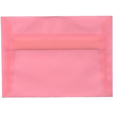 JAM Paper® A7 Invitation Envelopes, 5.25 x 7.25, Blush Pink Translucent Vellum, 250/box (PACV718H)
