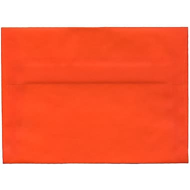 JAM Paper® A7 Invitation Envelopes, 5.25 x 7.25, Orange Translucent Vellum, 50/Pack (PACV719I)