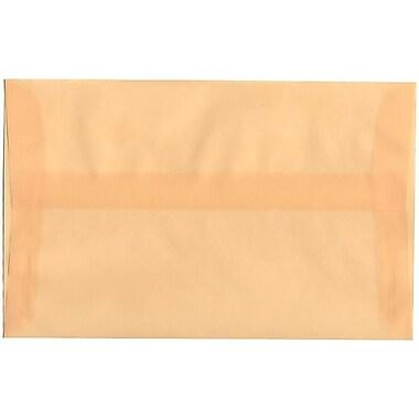 JAM Paper – Enveloppes translucides A10, ocre printanier, 250/paquet