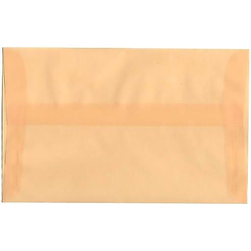 JAM Paper® A10 Translucent Vellum Invitation Envelopes, 6 x 9.5, Spring Ochre Ivory, Bulk 250/Box (PACV850H)