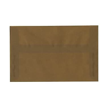 JAM Paper® A10 Invitation Envelopes, 6 x 9.5, Translucent Vellum Earth Brown, 50/pack (PACV851I)