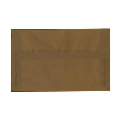 JAM Paper® A10 Invitation Envelopes, 6 x 9.5, Translucent Vellum Earth Brown, 250/box (PACV851H)