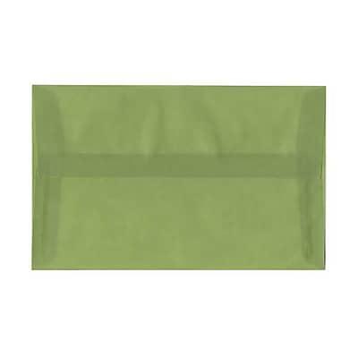 JAM Paper® A10 Invitation Envelopes, 6 x 9.5, Translucent Vellum Leaf Green, 50/pack (PACV853I)