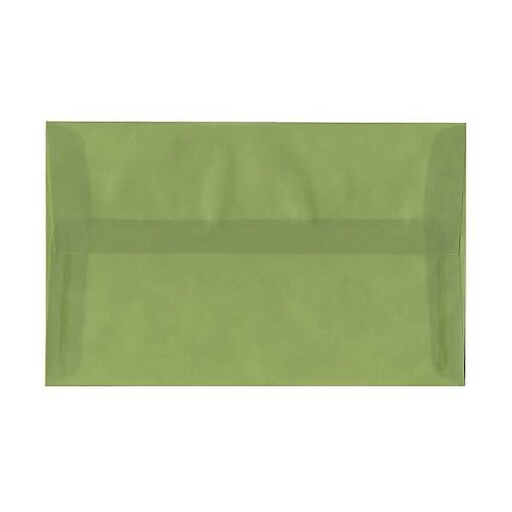 JAM Paper® A10 Translucent Vellum Invitation Envelopes, 6 x 9.5, Leaf Green, Bulk 250/Box (PACV853H)