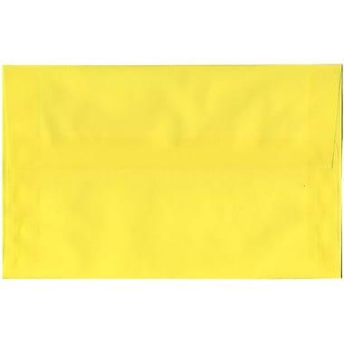 JAM Paper – Enveloppes translucides A10, jaune, 50/pqt
