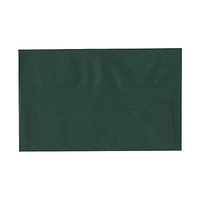 JAM Paper® A10 Invitation Envelopes, 6 x 9.5, Translucent Vellum Racing Green, 50/pack (PACV863I)