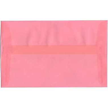JAM Paper® A10 Invitation Envelopes, 6 x 9.5, Translucent Vellum Blush Pink, 50/Pack (PACV868I)