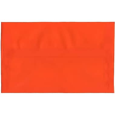 JAM Paper – Enveloppes translucides A10, orange, 250/paquet
