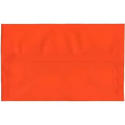 JAM Paper® A10 Invitation Envelopes, 6 x 9.5, Translucent Vellum Orange, 50/pack (PACV869I)