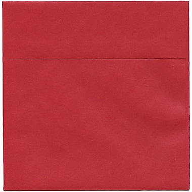 JAM Paper® 6.5 x 6.5 Square Envelopes, Stardream Metallic Jupiter Red, 250/Pack (SD853520H)