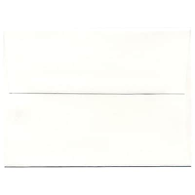 JAM Paper® A6 Invitation Envelopes, 4.75 x 6.5, Strathmore Bright White Laid, 50/pack (STTL661I)