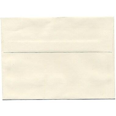 JAM PaperMD – Enveloppes Strathmore A7, papier vergé blanc naturel, 250/paquet