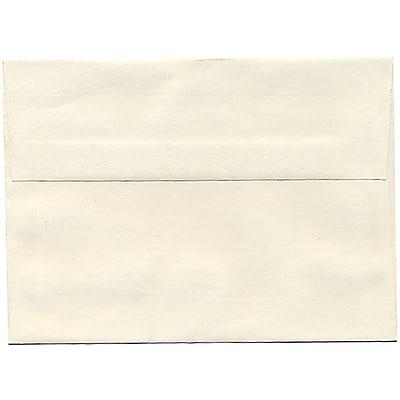 JAM Paper® A7 Invitation Envelopes, 5.25 x 7.25, Strathmore Natural White Laid, 50/pack (STTL713I)