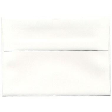 JAM PaperMD – Enveloppes Strathmore A7, blanc brillant, 250/paquet