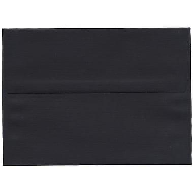 JAM Paper – Enveloppes A7 en papier recyclé toilé noir, 250/paquet