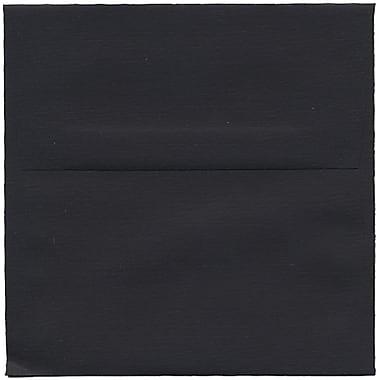 JAM Paper® 5.5 x 5.5 Square Envelopes, Black Linen Recycled, 50/Pack (V01210I)