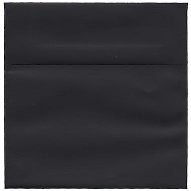 JAM Paper® 6 x 6 Square Envelopes, Black Linen Recycled , 50/Pack (V01212I)
