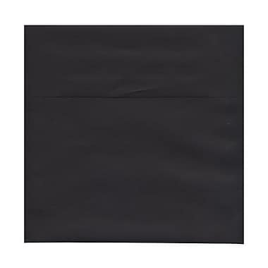 JAM Paper® 9 x 9 Square Envelopes, Black Linen Recycled, 250/Pack (V01215H)