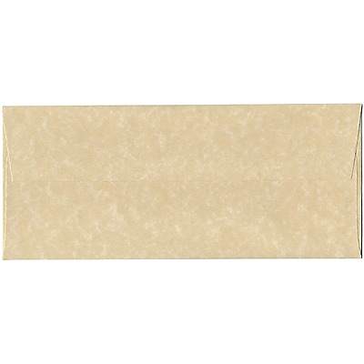 JAM Paper® #10 Business Envelopes, 4 1/8 x 9 1/2, Brown Parchment Recycled, 50/pack (V01722I)