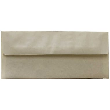 JAM Paper® #10 Business Envelopes, 4 1/8 x 9.5, Pewter Grey Parchment Recycled, 500/Pack (V01726H)