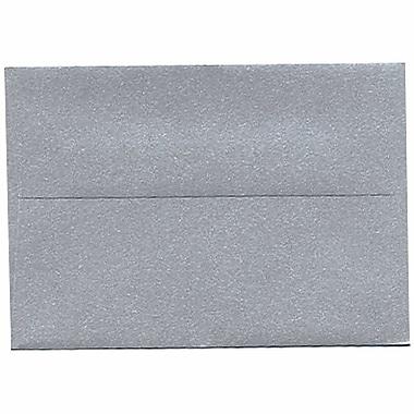 JAM Paper® 4bar A1 Envelopes, 3.63 x 5 1/8, Stardream Metallic Silver, 50/Pack (V018243I)