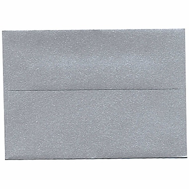 JAM Paper® 4bar A1 Envelopes, 3.63 x 5 1/8, Stardream Metallic Silver, 250/Pack (V018243H)