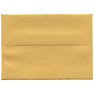 JAM Paper® 4bar A1 Envelopes, 3.63 x 5 1/8, Stardream Metallic Gold, 50/Pack (V018244I)