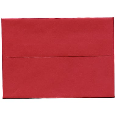 JAM Paper® 4bar A1 Envelopes, 3.63 x 5 1/8, Stardream Metallic Jupiter Red, 250/Pack (V018247H)