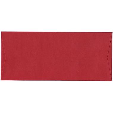 JAM Paper® #10 Business Envelopes, 4 1/8 x 9.5, Stardream Metallic Jupiter Red, 500/Pack (V018285H)