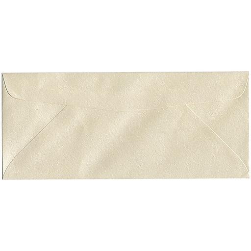 JAM Paper® #10 Metallic Business Envelopes, 4.125 x 9.5, Stardream Opal, 50/Pack (V018287I)