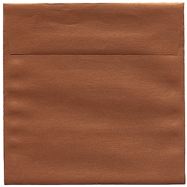 JAM Paper® 6.5 x 6.5 Square Envelopes, Stardream Metallic Copper, 50/Pack (V018310I)