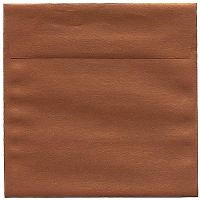JAM Paper® 6.5 x 6.5 Square Envelopes, Stardream Metallic Copper, 250/box (V018310H)