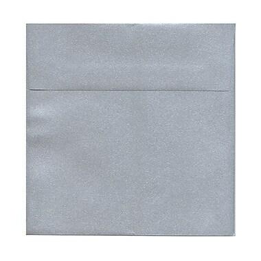 JAM PaperMD – Enveloppe Stardream à effet métallisé, 8,5 x 8,5 po, argenté, 50/paquet
