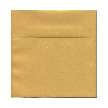 JAM Paper® 8.5 x 8.5 Square Envelopes, Stardream Metallic Gold, 50/Pack (V018319I)