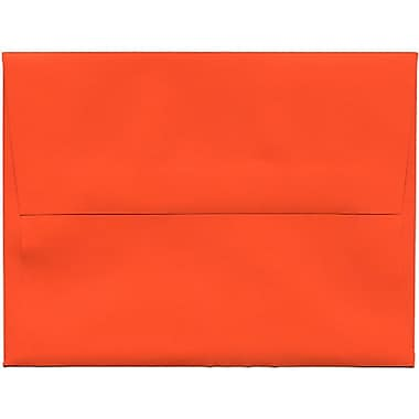 JAM Paper® A2 Invitation Envelopes, 4.38 x 5.75, Brite Hue Orange Recycled, 250/Pack (WDBH602H)