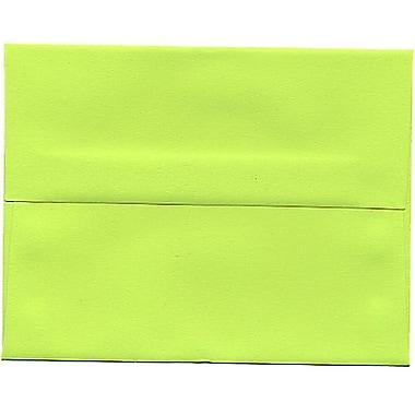 JAM Paper® A2 Invitation Envelopes, 4.38 x 5.75, Brite Hue Ultra Lime Green, 250/Pack (WDBH610H)