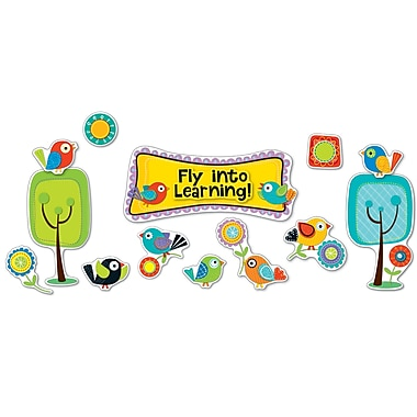 Carson-Dellosa Boho Birds Fly into Learning Bulletin Board Set (110301)
