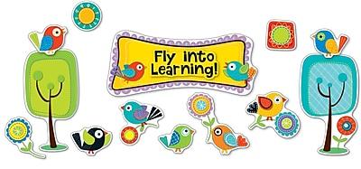 Carson-Dellosa Boho Birds Fly into Learning Bulletin Board Set, 51 Pieces/Set