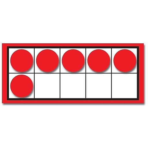 Carson-Dellosa Ten Frames and Counters Manipulative, 44/Set