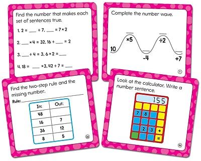 Carson-Dellosa Math Challenge Curriculum Cut-Outs Grade 3, 36/Pack