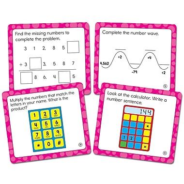 Carson-Dellosa Math Challenge Curriculum Cut-Outs Grade 4, 36/Pack