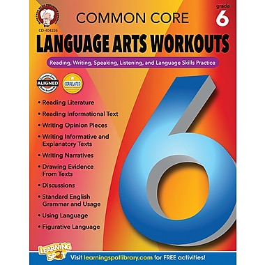 Mark Twain Common Core Language Arts Workouts Resource Book for Grade 6