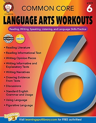 Mark Twain Common Core Language Arts Workouts Resource Book for Grade 6