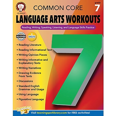 Carson-Dellosa Mark Twain Common Core Language Arts Workouts Resource Book for Grade 7 (404227)