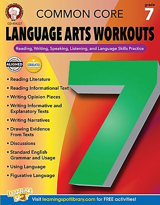 Mark Twain Common Core Language Arts Workouts Resource Book for Grade 7