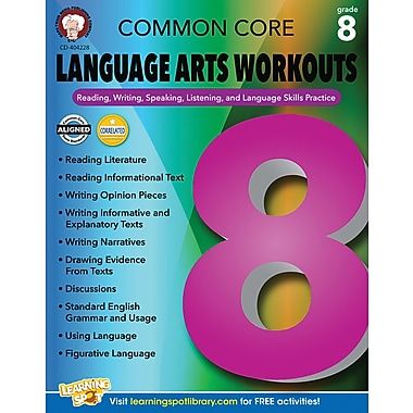 Mark Twain Common Core Language Arts Workouts Resource Book for Grade 8