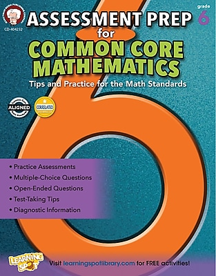 Mark Twain Assessment Prep for Common Core Mathematics Resource Book for Grade 6