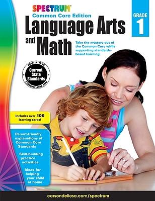 Spectrum Language Arts and Math Workbook for Grade 1