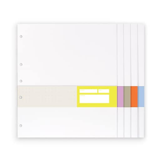 """russell+hazel Signature White Paper Pockets, 11""""H x 9.5""""W , Set of 5"""